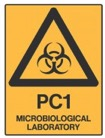 Microbiological Laboratory Hazard Sign