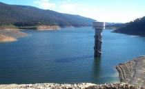Photo of a dam full of water