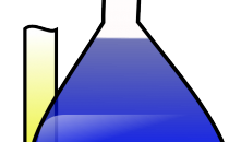 Artist's impression of chemistry beakers