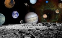 A montage of planet images