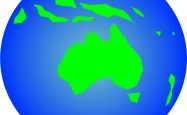 A picture of Australia as seen from space