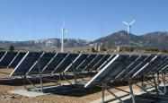 Banks of solar energy cells