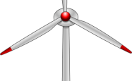 A drawing of a wind turbine