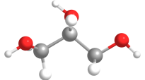 A stick and ball model of a molecule
